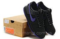 Женские кроссовки Nike DUNK Low (black-violet)