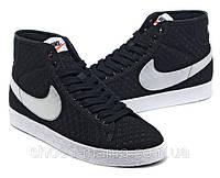 Женские кроссовки Nike Blazer Mid Mesh (white-black), фото 1