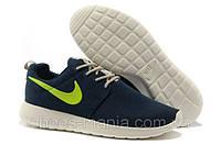 Женские кроссовки Nike Roshe Run (black-green-white)