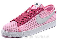 Женские кроссовки Nike Blazer Low Mesh розовые, фото 1