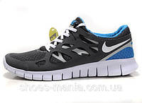 Женские кроссовки Nike Free Run 2 (grey-blue)
