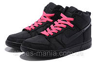 Женские кроссовки Nike DUNK High (black-pink), фото 1