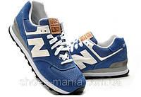 Женские кроссовки New Balance 574 (blue-white), фото 1