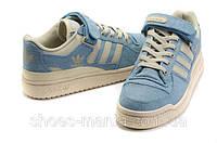 Женские кроссовки Adidas Forum Low голубые, фото 1