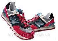 Женские кроссовки New Balance 574 (red-grey), фото 1