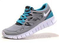 Женские кроссовки Nike Free Run 2 серо-синие, фото 1
