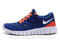Женские кроссовки Nike Free Run 2 (blue-orange), фото 1