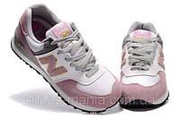 Женские кроссовки New Balance 574 (white-pink)