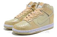 Женские кроссовки Nike DUNK High желтые, фото 1