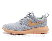 Женские кроссовки Nike Roshe Run (grey-orange), фото 1