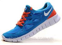 Кроссовки Nike Free Run 2 (blue-orange), фото 1