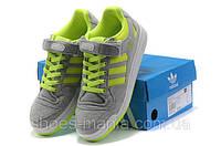 Мужские кроссовки Adidas Forum Low (grey-green), фото 1