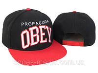 Кепка с прямым козырьком Obey Snapback red-white-black