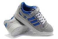 Мужские кроссовки Adidas Forum Low (grey-blue), фото 1