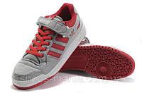Мужские кроссовки Adidas Forum Low (grey-red), фото 1