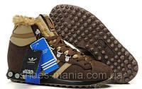 Зимние кроссовки Adidas Chewbacca коричневые, фото 1