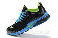 Кроссовки Nike Air Presto черно-голубые, фото 1