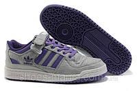 Мужские кроссовки Adidas Forum Low (grey-violet), фото 1