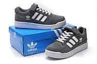 Мужские кроссовки Adidas Forum Low серые, фото 1