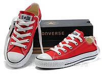Кеды Converse All Star Low красные, фото 1