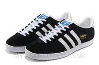 Мужские кроссовки Adidas Gazelle black, фото 1