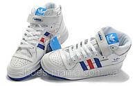 Мужские кроссовки Adidas Forum Mid белые, фото 1