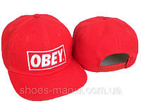 Рэперская кепка Obey Snapback red-white