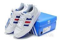 Мужские кроссовки Adidas Forum Low (white-blue-red)