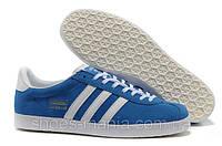 Мужские кроссовки Adidas Gazelle (blue-white), фото 1