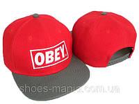Кепка с прямым козырьком Obey Snapback red-white-grey