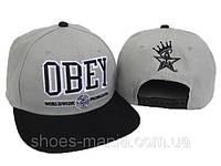 Кепка с прямым козырьком Obey Snapback grey-black