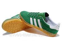 Мужские кроссовки Adidas Gazelle зеленые, фото 1