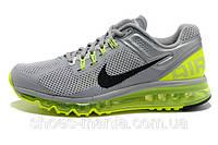 Кроссовки Nike Air Max 2013 серо-салатовые, фото 1