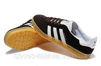 Мужские кроссовки Adidas Gazelle коричневые