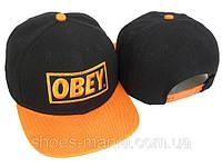 Кепка с прямым козырьком  Obey Snapback black-orange