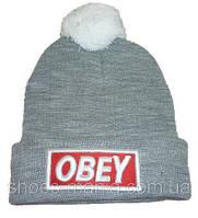 Шапка Obey серая