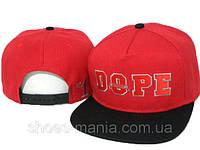 Кепка с прямым козырьком Dope Snapback red-black-white