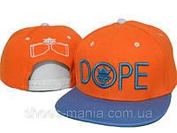 Кепка Dope Snapback оранжево-синяя