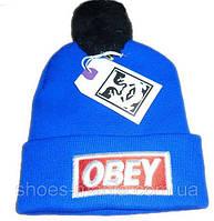 Шапка Obey blue-black