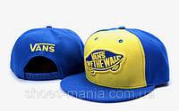 Кепка с прямым козырьком Vans Snapback blue-yellow