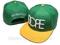 Кепка с прямым козырьком Dope Snapback green-yellow