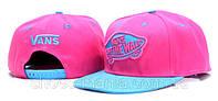 Кепка с прямым козырьком Vans Snapback pink-blue
