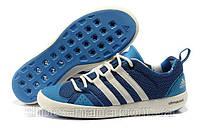 Летние кроссовки мужские Adidas Terrex Climacool Boat синие