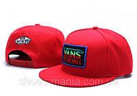 Кепка с прямым козырьком Vans Snapback красная