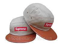 Кепка с прямым козырьком Supreme Snapback grey-orange