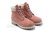 Женские зимние ботинки Timberland pink