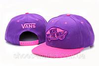 Кепка с прямым козырьком Vans Snapback фиолетовая