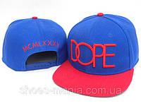 Кепка с прямым козырьком Dope Snapback red-blue
