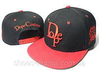 Кепка с прямым козырьком Dope Snapback red-black-orange