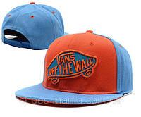 Кепка с сеточкой Vans Snapback оранжево-синяя